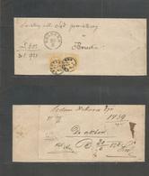 Ukraine. 1870 (29 March) Austrian PO - Western Ukraine - Poland. Lemborg - Brzesko (30 March) Fkd Complete Wrapper, 2kr  - Ukraine