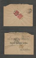 Ukraine. 1918 (6 Sept) Rusia, Kier - Moscow. Registered Reverse Multifkd Imperf Issue Envelope. Tied Cds. - Ukraine