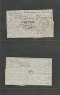 "Usa. 1848 (21 Aug) NYC - Germany, Leipzig, Saxony. EL Full Text Red Cds + ""paid Part"" Stline + America - Bremen + 4 Mns  - United States"