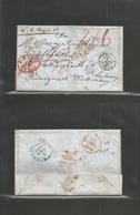 Usa. 1849 (16 Dec) Philadelphia - Germany, Wurttemberg, Mierhardt (5 Jan 50) EL Full Text, Depart Red Paid / 10 Mns + 4  - United States