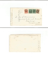Usa - Inland. C. 1878 (28 March) Indiana - Galesburg, Illinov Multicolor Large ABN Fkd Envelope. 18c Rate. - United States