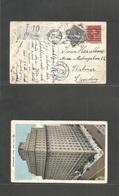 Usa - Xx. 1926 (Jan 11) Brooklyn, NY - Sweden, Kolmar (29 Jan) Fkd 2c Ppc + Taxed Swedish P. Due 10c Lilac Tied Cds + Ta - United States