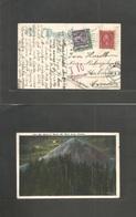 Usa - Xx. 1926 (Apr 30) Marschfield, Oregon - Sweden, Kalmar (23 June) Fkd Ppc Mt. Hood 2c + Taxed + Swedish P. Due + Ta - United States