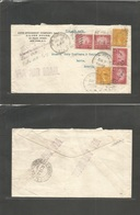 "Usa - Xx. 1933 (6 June) NY - Brazil, Bahia (13 June). Air Multifkd Envelope ""Returned For Adtl Postage"" At Additional Do - United States"