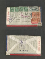 Usa - Prexies. 1941 (28 May) NYC - Australia, Sydney, NSW (10 June) Air Multifkd + Arrival Censor Envelope Via Pacific C - United States