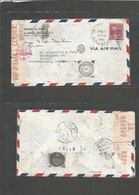 Usa - Prexies. 1942 (11 Febr) NYC - Turkey, Istambul (1 May) Single 25c Fkd Envelope. Routed Airmail Via South Africa, E - United States
