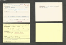 Usa - Wake Island. 1943 (7 June) America POW Via Swiss Missionary Catholic. 2 Cards Of Civil Service Internee. Very Intr - United States