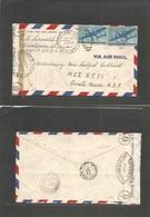 Usa - Xx. 1944 (Nov 13) Chicago, Ill - French Congo, Brazaville (21 Dec 44) Doble Censor. Air Fkd Env. Sabena. Airline M - United States