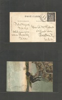 Usa-Canal Zone. 1908 (2 Feb) Panama Ovptd Issue. Pedro Miguel - USA, Trenton, NJ. Fkd Card 1ct Cds. Fine. - United States