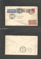 Vatican. 1930 (19 Feb) Citta - Ireland, Watterford. Air Multifkd + Italian Express (air Rate?) Via Genoa - Paris Gare Du - Vatican