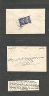 Yemen. C. 1937. Taiz - Hodeidad. Reverse Single Ovptd Fkd 2 Bog Dark Blue, Cds With Old Collector Explanation Notes. Fin - Yemen