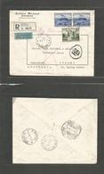Yugoslavia. 1939 (10 Febr) Belgrade - Australia, Sidney NSW (22 Febr) Registered Air Multifkd Illustrated Envelope. Via  - Yugoslavia