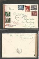 Yugoslavia. 1943 (31 May) Zagreb - Schönlinde, Germany (7 June) Registered Multifkd Express Service Envelope. Nazi Censo - Yugoslavia
