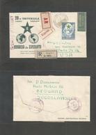 Yugoslavia. 1953 (4 Aug) Belgrade Esperanto Congress. Registered Epress AR Airmail Single Fkd Envelope To USA, Pha, PA ( - Yugoslavia