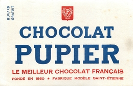 Buvard Ancien CHOCOLAT PUPIER - FABRIQUE SAINT ETIENNE - Cocoa & Chocolat