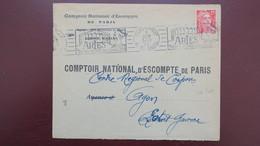 Lettre Perfore CN 304 Agence De Arles  Comptoir National D'Escompte  1951 Gandon - Perforés