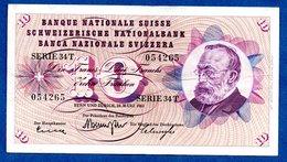 Suisse   -  10 Francs   28/03/1963 --  état  TB - Suisse