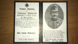 Sterbebild Wk1 Ww1 Bidprentje Avis Décès Deathcard KUK Sanitäts Abteilung 4 ALESIO ALBANIEN Aus Lindet Marienkirchen - 1914-18