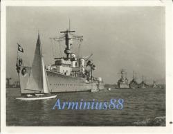 "Kriegsmarine - Kreuzer ""Karlsruhe"" - Königsberg-Klasse - Im Kieler Hafen (Dans Le Port De Kiel) - War, Military"