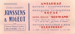 Buvard Ancien ANTARGAZ - SOFAC - SXHWANK - ELECTROLI - JANSSENS ET MIGEOT - SIN LE NOBLE - Electricité & Gaz