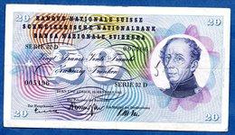 Suisse   -  20 Francs   26/10/1961 --  état  TB - Suisse