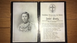 Sterbebild Wk1 Ww1 Bidprentje Avis Décès Deathcard KUK Tiroler Kaiserjäger 1 Bruneck Patrouillenführer - 1914-18