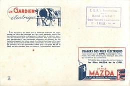 Buvard Ancien PILE MAZDA - SIN LE NOBLE - Baterías