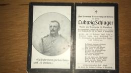 Sterbebild Wk1 Ww1 Bidprentje Avis Décès Deathcard KUK IR14 SÜDTIROL Jerusalempilger 12. Februar 1917 Aus Diersbach - 1914-18