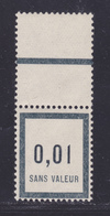 FRANCE FICTIF N°   F1 ** MNH Timbre Neuf Sans Trace De Charnière, Avec Bord De Feuille, TB (d100) - Fictifs