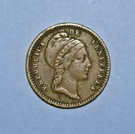 Republica De Venezuela 1/2 Cento 1852 - Venezuela