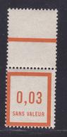 FRANCE FICTIF N°   F3 ** MNH Timbre Neuf Sans Trace De Charnière, Avec Bord De Feuille, TB (d102) - Fictifs