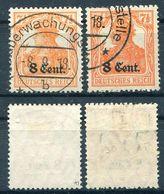 Dt. Besetzung Etappe West Michel-Nr. 3a Und 3b Gestempelt - Besetzungen 1914-18