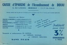 Buvard Ancien CAISSE D EPARGNE DE L ARRONDISSEMENT DE DOUAI - Banque & Assurance