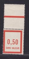 FRANCE FICTIF N°  F12 ** MNH Timbre Neuf Sans Charnière, Avec Bord De Feuille, TB (d110) - Ficticios