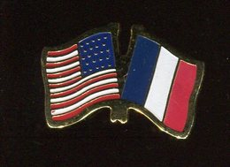 Pin's - Drapeau USA FRANCE - Villes