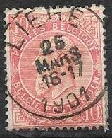 58 - Leopold II - Fijne Baard - 10c - Obl LIEGE - 1893-1900 Fine Barbe