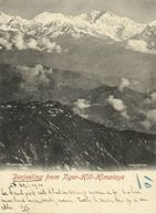 India, DARJEELING, View From Tiger-Hill, Himalayas (1903) Court Card Postcard - India