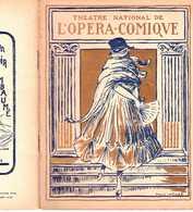 PROGRAMME THÉÂTRE OPÉRA-COMIQUE 11 XI 1921 LAKMÉ DELIBES BROTHIER CAZETTE BAUGÉ MARZANNE DANSE MONNA PAIVA - Programmes