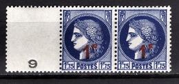 FRANCE 1941 - PAIRE AVEC MILLESIME Y.T. N° 486 - NEUFS** - France