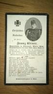 Sterbebild Wk1 Ww1 Bidprentje Avis Décès Deathcard KUK In. Div. San. Anst. 11 Darmtyphus ORYSZEZY WOLHYNIEN 1916 - 1914-18