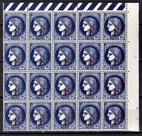 FRANCE 1941 - BLOC DE 20 TP  Y.T. N° 486 - NEUFS** - France