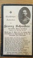 Sterbebild Wk1 Ww1 Bidprentje Avis Décès Deathcard KUK IR59 THERESIENSTADT 31. Mai 1918 Aus Hecken Friedburg - 1914-18