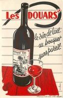 Buvard Ancien LES DOUARS - VINS DE LUXE - DELBY - Liqueur & Bière