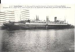 CPA-1925-PAQUEBOT-ILE De FRANCE- Cie Générale Transat-Edit Noxais-TBE - Passagiersschepen