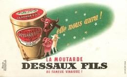 Buvard Ancien MOUTARDE DESSAUX FILS - ORLEANS - Moutardes