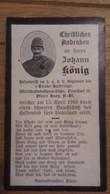 Sterbebild Wk1 Ww1 Bidprentje Avis Décès Deathcard KUK Tiroler Kaiserjäger 2 Aus Binerstorf Haag 15. April 1916 - 1914-18