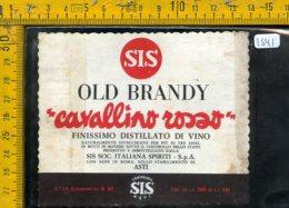 Etichetta Vino Liquore Brandy Cavallino Rosso Asti - Etichette