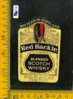Etichetta Vino Liquore Scotch Whisky Red Hackle - Etichette