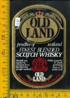 Etichetta Vino Liquore Scotch Whisky Old Land - Etichette