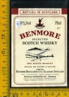 Etichetta Vino Liquore Scotch Whisky Benmore Scotland - Etichette